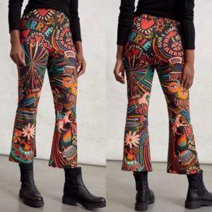 NWT FARM Rio Boho Cropped Pants Trousers